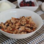 Granola is a great breakfast that you can prepare in bulk and have it available for the week. Also makes a yummy snack with Greek or coconut yoghurt.