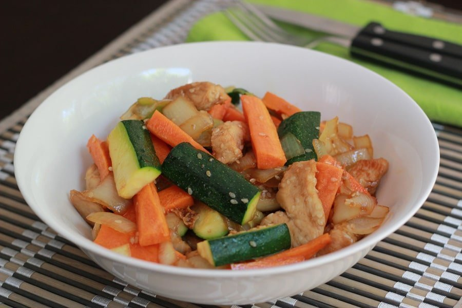 Honey Sesame Chicken Stirfry