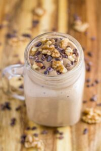 This Chocolate Walnut Breakfast Mousse is so delicious and is a little different than your standard breakfast meals, yet is still healthy and oh so filling