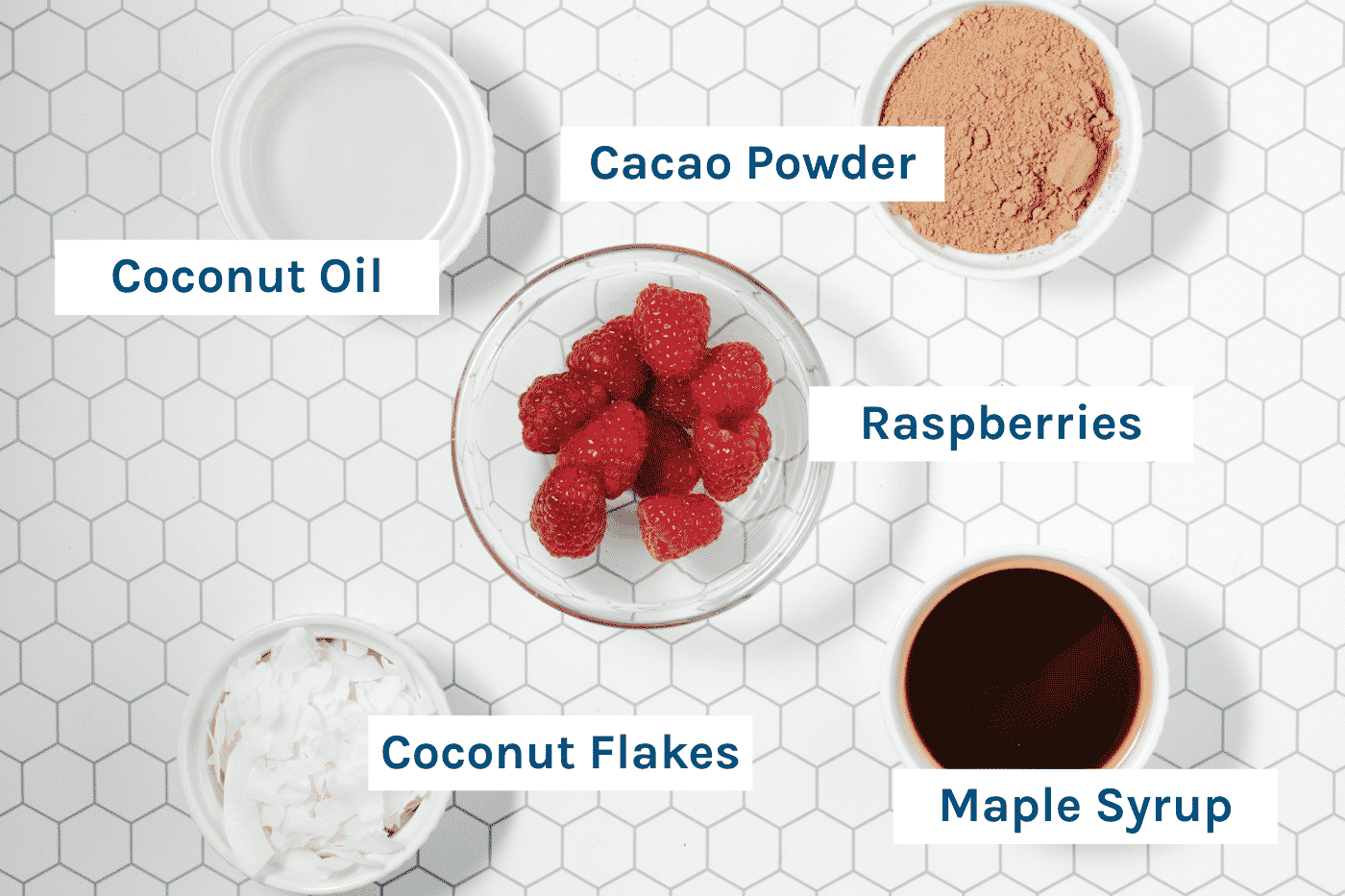 photo of the ingredients needed to make this raspberry ripe