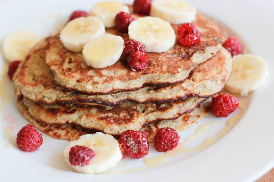 These banana & coconut pancakes are incredibly tasty and are also great if you have guests over and you want to make a simple but impressive breakfast for them