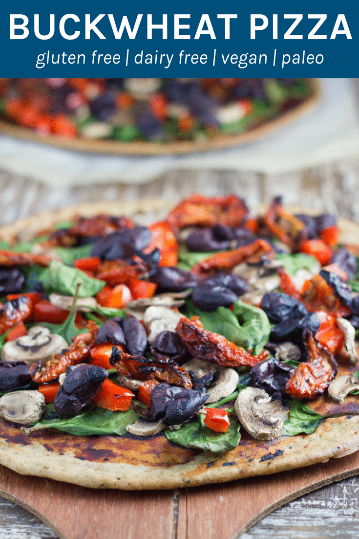 Buckwheat Pizza is my go-to pizza recipe! It is easy to prepare, no rising is needed, choose your toppings and enjoy! | becomingness.com.au #healthypizza #healthyeating #glutenfree #vegan