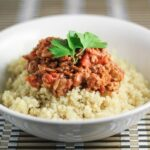 Quinoa Bolognese my gluten free alternative to the Italian classic meal.