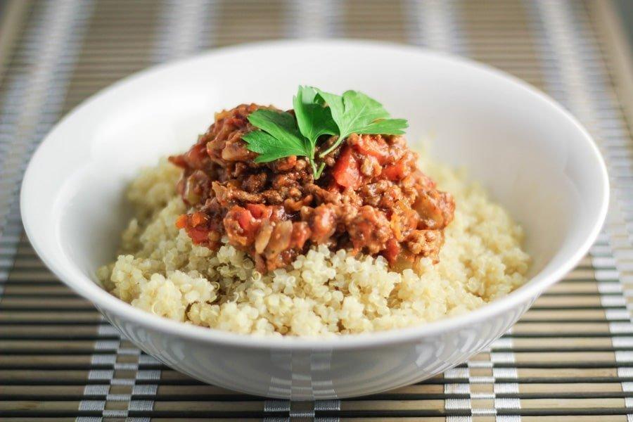 Quinoa Bolognese.