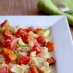 Quinoa Salad with Roast Pumpkin, Avocado & Cherry Tomato. Super healthy and so yummy too