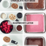 The layers of this raw chocolate raspberry slice work so well together. The chocolate nut base has the perfect crunch to it, the raspberry layer is soft and sweet and the chocolate layer will leave you wanting more.