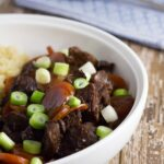 Slow Cooker Mongolian Beef. My healthy version of the super popular dish!