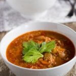 Vegetable & Lentil Soup. A traditional winter warming soup.