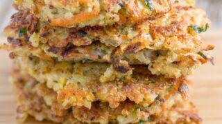 Quinoa Fritters with Healthy Garlic Aioli