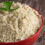 Coconut Quinoa. A yummy side to have with your favourite slow cooker meal.