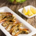 Grilled Prawns with Lemon, Chili & Oregano. It's a delicious and light meal and which goes really well with a simple salad