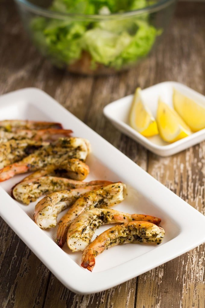 Grilled Prawns with Lemon, Chili & Oregano. It's a delicious and light meal and which goes really well with a simple salad #seafood #healthyeating #keto | becomingness.com.au