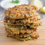 Quinoa Fritters. These make for a great appetizer or a light meal and are gluten and dairy free. So good!