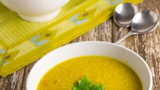 Red Lentil & Quinoa Soup (includes Thermomix method)