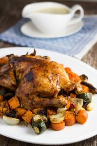 Roast Chicken & Vegetables. Such a classic meal that is so easy to make