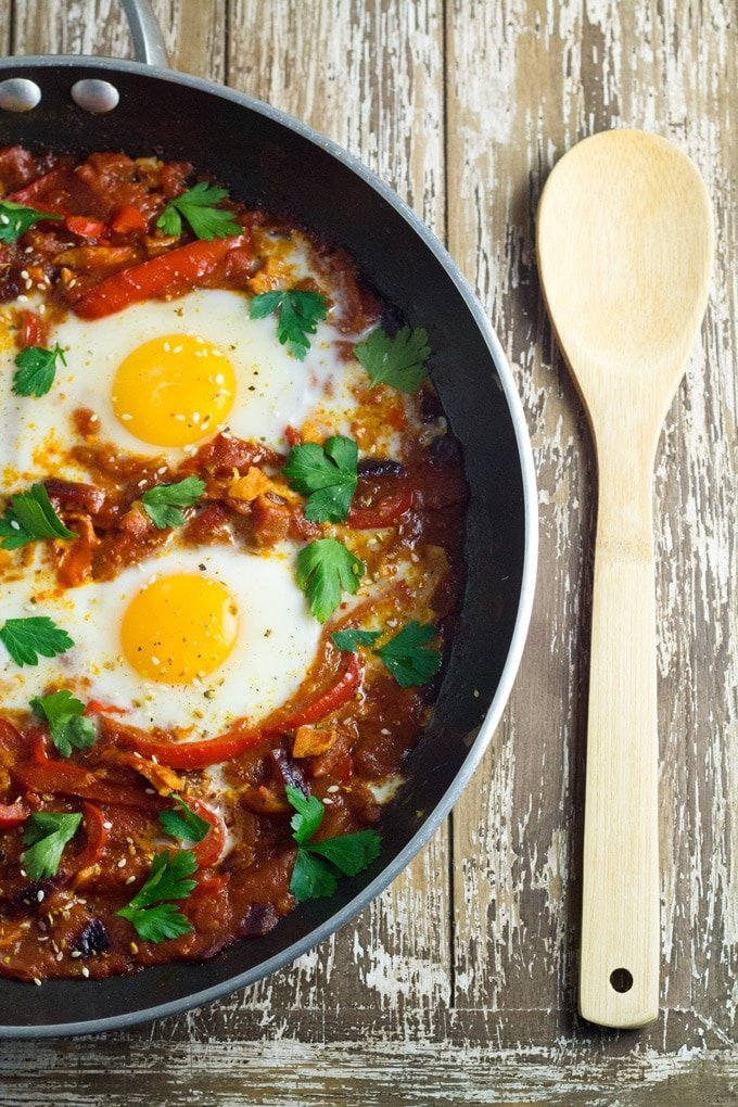 10 Best Healthy Breakfast Recipes | Shakshouka. Eggs poached in a tomato sauce with chilli peppers, onions and spices. YUMMY!