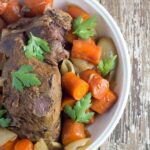 Slow Cooker Beef Pot Roast. A super yummy slow cooker meal that is full of flavour.