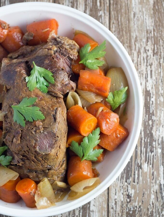 Slow Cooker Beef Pot Roast with Worcestershire Sauce