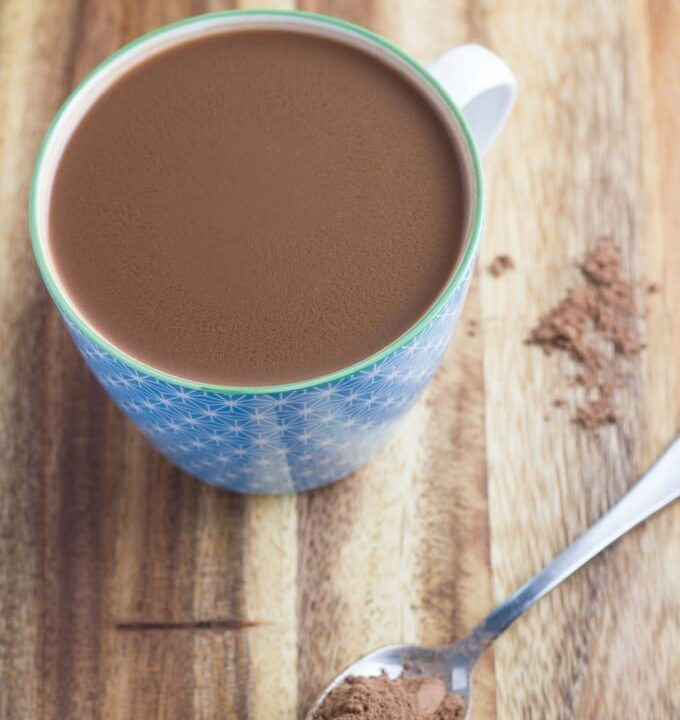 Caramel Hot Chocolate. Delicious and it is dairy, gluten and nut free, so will be suitable for many people.