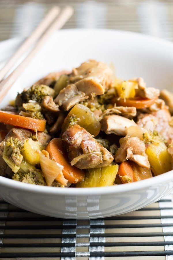 Slow Cooker Sweet & Sour Chicken. A really simple and very tasty slow cooker meal.