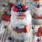 Chia Berry Parfait. This simple to make breakfast (or snack!) looks and tastes amazing, making it a great breakfast to serves to guests (or just for you!) It is also gluten free, dairy free.