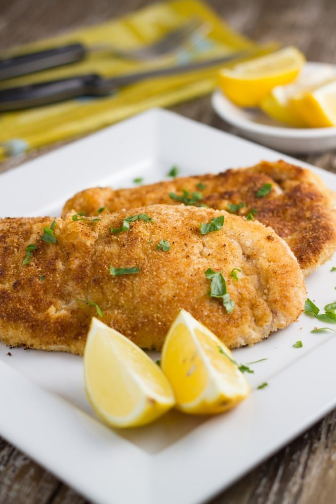 How Gluten Free Chicken Schnitzel will look when you have made the recipe