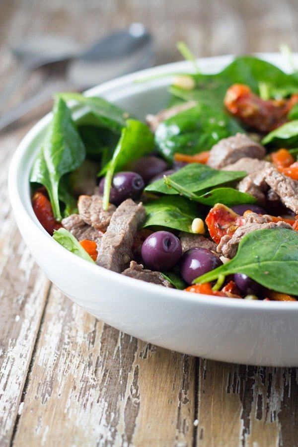 Greek Lamb Salad. A really yummy salad that is super easy to make!