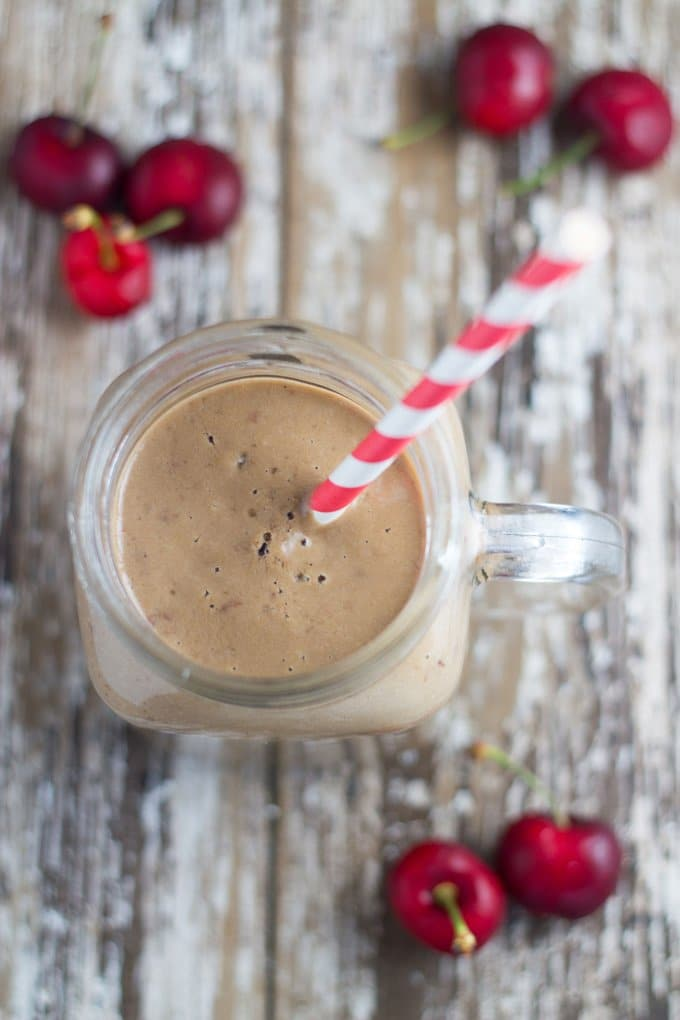 Black Forest Smoothie. Chocolate and cherry combo oh my!