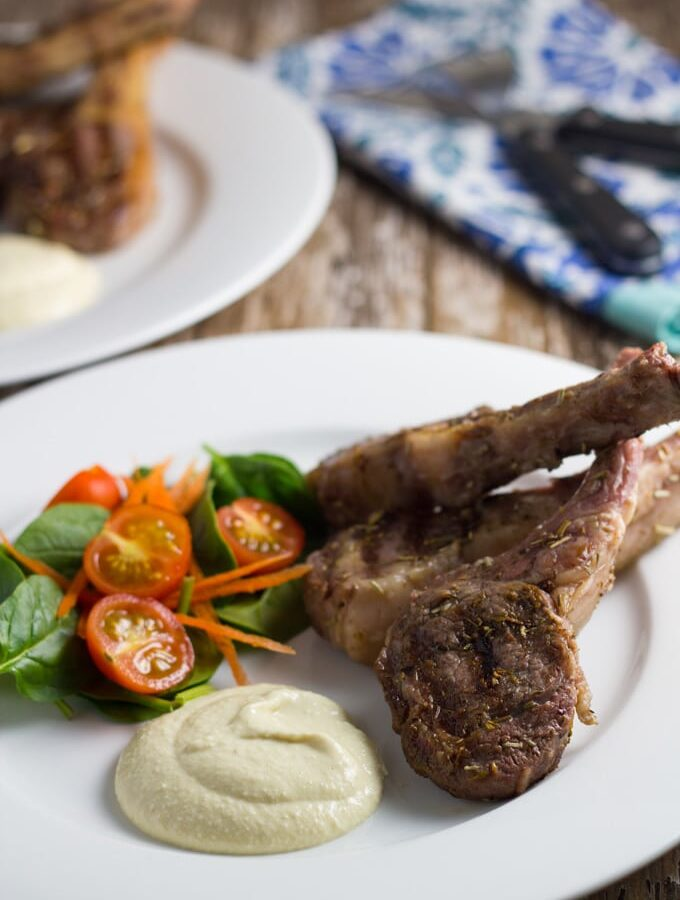 Greek Lamb Cutlets with Garlic Aioli