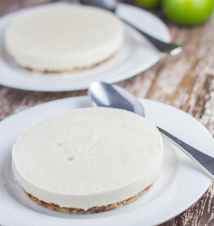 Raw Lime Cheesecake. It's really refreshing, with a slightly tart edge and makes an amazing summer dessert!