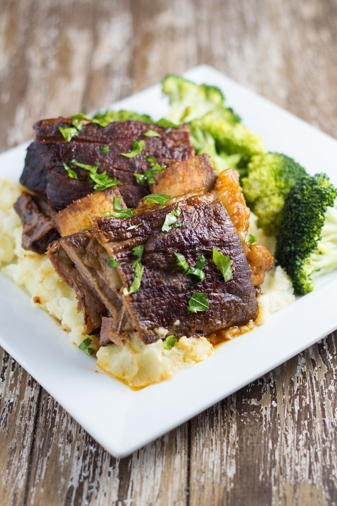 Slow Cooker Beef Ribs are a great meal to serve your guests. The flavour is amazing and they are so easy to make. Your guests will seriously be impressed!