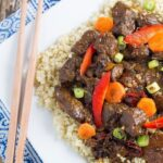 Slow Cooker Mongolian Lamb. My healthy version which is also super easy to cook!