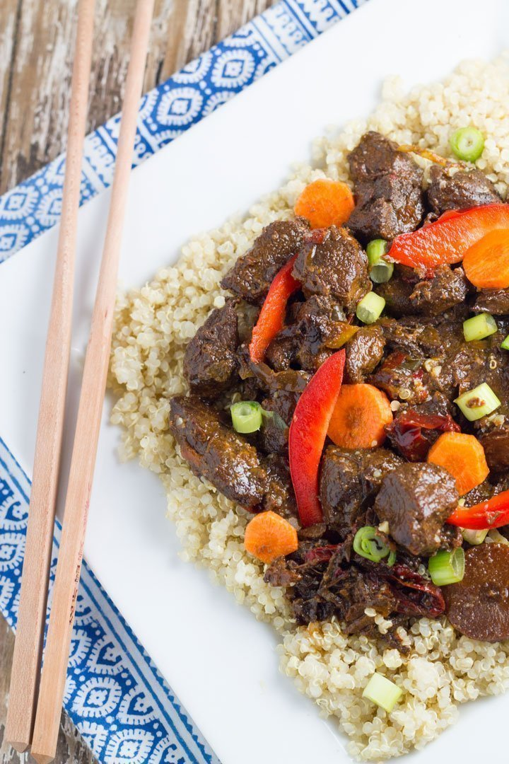 This Slow Cooker Mongolian Lamb is packed full of flavour is so easy to make. #slowcooker #mongolianlamb #easyfood | becomingness.com