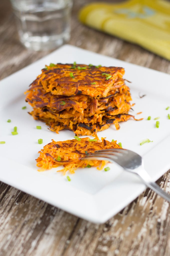 Sweet Potato Rosti are made with only 4 ingredients and packed full of flavour.