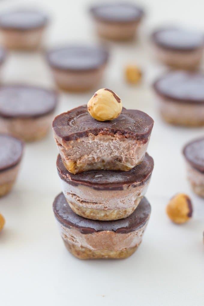 15 Best Raw Desserts - Mini no bake nutella bites