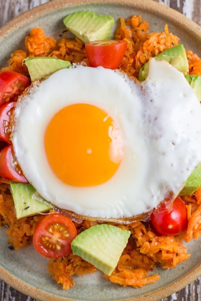 Sweet Potato Hash. A healthy low carb breakfast that help you start your day the right way.