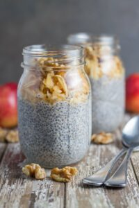 This Apple & Walnut Breakfast Chia Pudding combines two classic ingredients and is super easy to make.