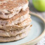 Apple Buckwheat Pancakes. The apple and cinnamon flavour is a match made in heaven, plus these pancakes are super easy to make.
