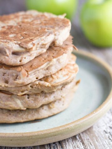 how the Apple Buckwheat Pancakes look like when cooked