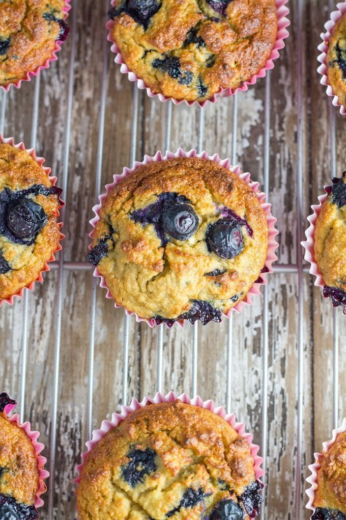 Blueberry Muffins. These easy to make gluten free muffins take around 10 minutes to prepare and 30 minutes to bake and they will make a great addition to your child's lunchbox.