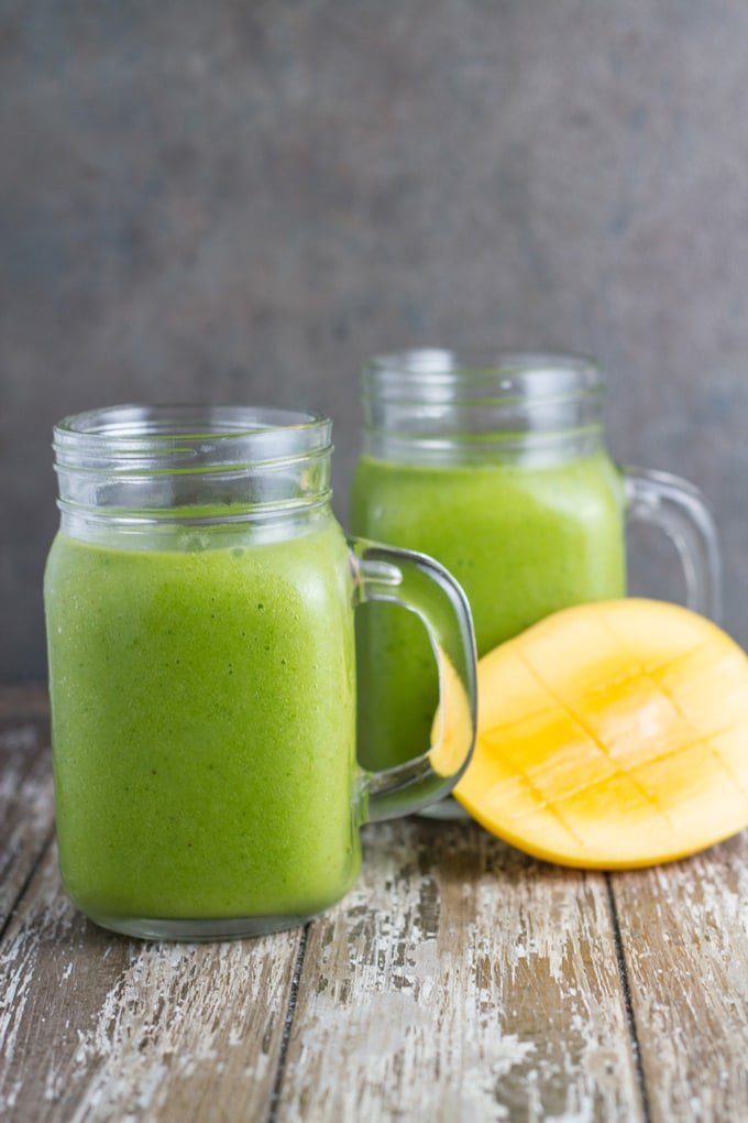 This Tropical Green Smoothie is a really tasty smoothie and is a great way to sneak vegetables in your children's diet if they are fussy eaters as you cannot taste the spinach. WINNING!!