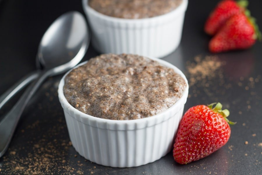 Chocolate Chia Pudding Cups. Can be either a breakfast or a dessert! YUM!
