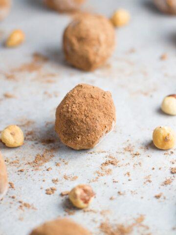 Raw Nutella Truffles. They are my amazing healthy interpretation of the uber popular chocolate nutty spread.