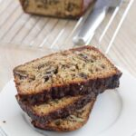 Zucchini & walnut loaf. A healthy and seriously yummy loaf that is also gluten, dairy and refined sugar free.