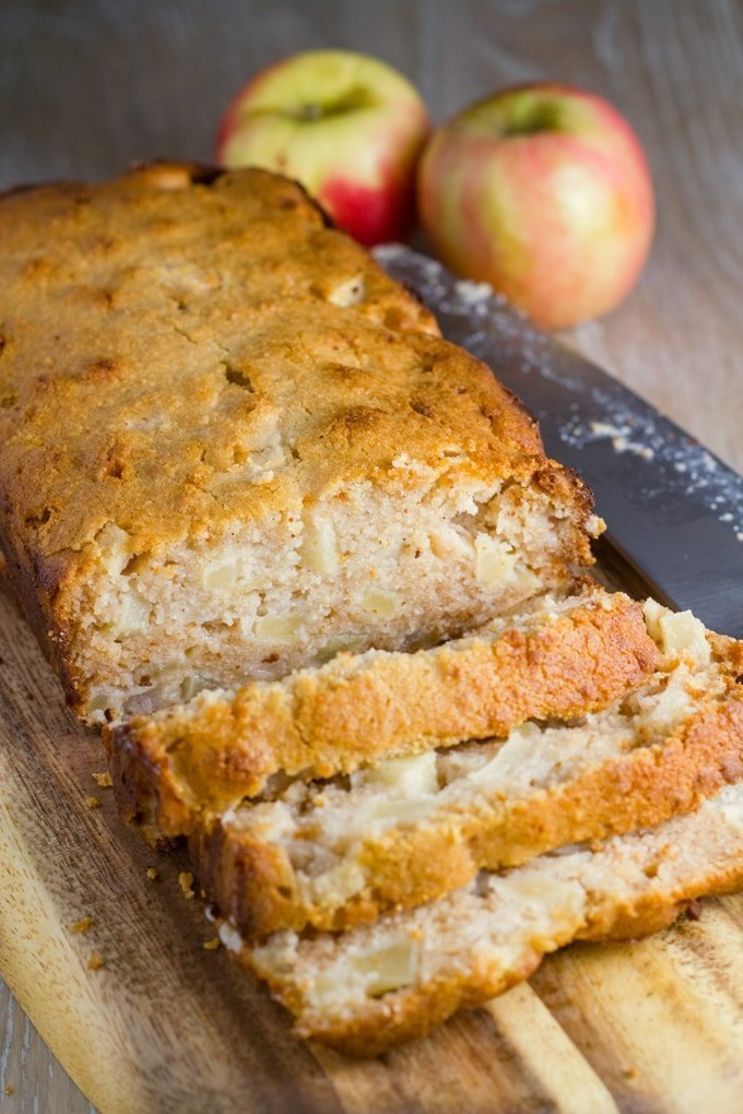 This gluten free apple bread is super tasty and easy to make. Plus it is also nut free!