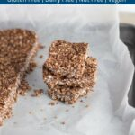 Nut Free Chocolate & Coconut No Bake Bars. They make a great addition to your child's lunchbox, and if you have guests coming over with short notice, then these are great to make as they only take a few minutes to make and one hour to set in the freezer.