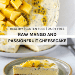This raw mango and passionfruit cheesecake is the perfect summer raw dessert. Made with three key ingredients - macadamias, mango and passionfruit, which make this dessert simply irresistible.