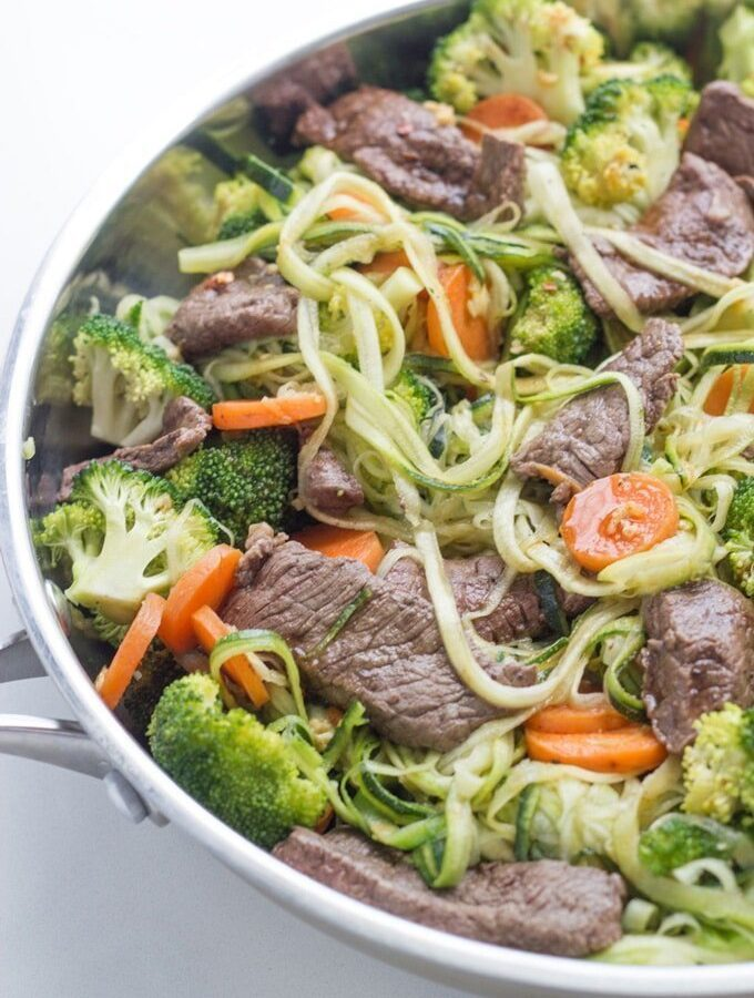 Beef Stir Fry with Zoodles