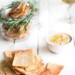 Rosemary and Sea Salt Grain Free Crackers | Christmas | Jo Anderson - The Luminous Kitchen