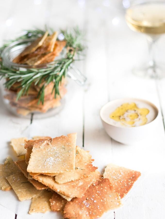 Christmas Recipe Countdown Day 9: Rosemary and Sea Salt Grain Free Crackers